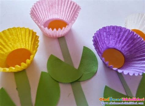 crafts actvities and worksheets for preschool toddler and 536 | cupcake liner flower craft