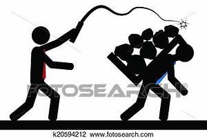 Clipart of Slavery k20594212 - Search Clip Art ...