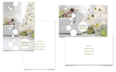christmas dreams greeting card template word publisher