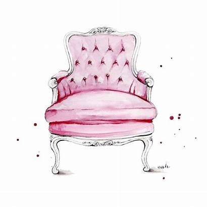 Chair Icanvas Seat Canvas Watercolor Drawing Furniture