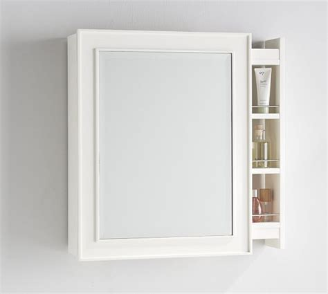 mirrored medicine cabinet side pull out medicine cabinet white pottery barn