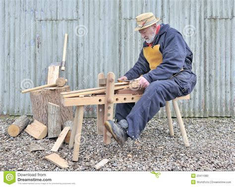 traditional woodworker stock photo image