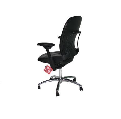 steelcase leap v1 chair with chrome base black leather