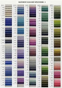 Rainbow Gallery Splendor Color Chart