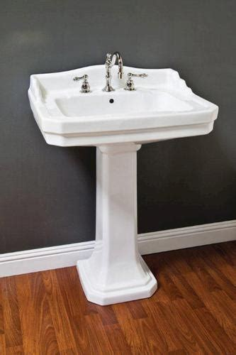 pedestal sink with built in backsplash deco pedestal sink at menards porcelain deco pedestal