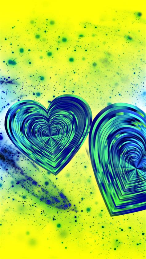 wallpaper love hearts blue abstract hd love