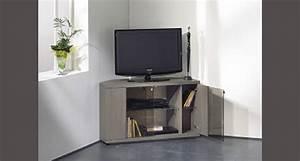 Meuble Tv En Coin : meuble tv haut gris ~ Farleysfitness.com Idées de Décoration