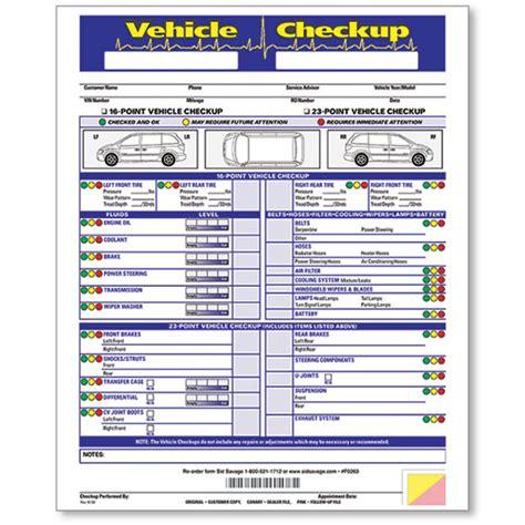 bureau inspection automobile vehicle check up form used car checklist multi point