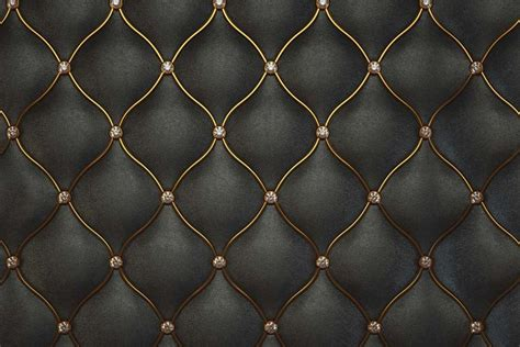 Luxurious Black Leather Pattern Textured Wallpaper. Walls