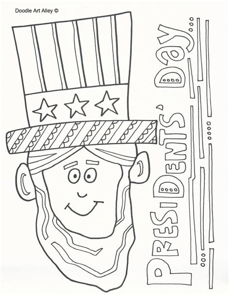 presidents day coloring pages presidents day coloring pages doodle alley