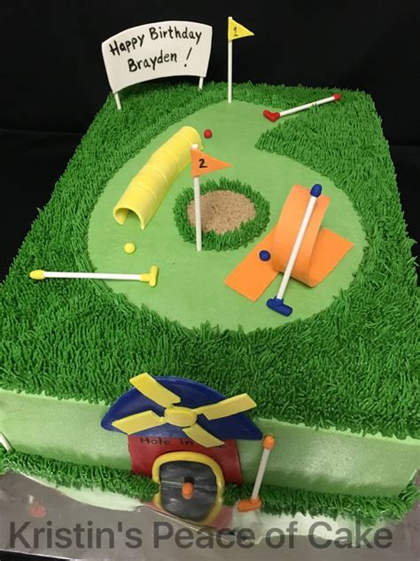 mini golf cake kristins peace  cake   golf