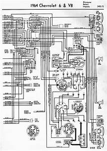 Wiring Diagrams Of 1964 Chevrolet 6 And V8 Biscayne Belair