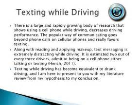 texting and driving persuasive speech