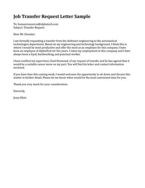job transfer request letter sample motorhomes class