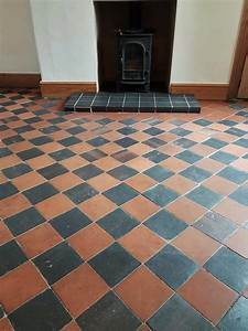 Cleaning, Sealing, Red, And, Black, Quarry, Floor, Tiles, Buxton