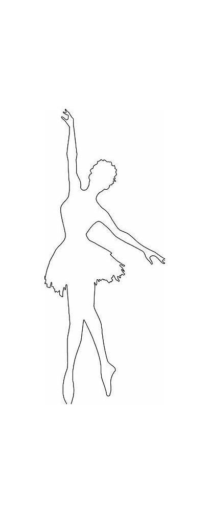 Ballerina Silhouette Coloring Ballet Bailarina Result Outline