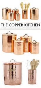 copper kitchen canisters copper kitchen accessories pictures to pin on