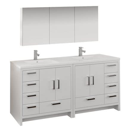Freestanding Medicine Cabinet by 72 Quot Glossy White Free Standing Sink Bathroom Vanity