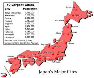 Japan Map Major Cities