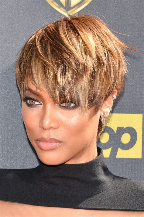 tyra bank short hairstyles and look on on pinterest