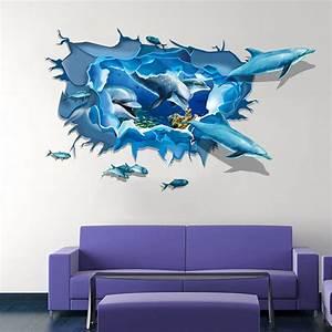 Wandtattoo Unterwasserwelt Kinderzimmer : 3d wandtattoo wandsticker sticker kinderzimmer meer unterwasserwelt delphin ebay ~ Sanjose-hotels-ca.com Haus und Dekorationen