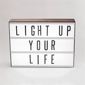 express yourself with this personal marquee lightbox With my cinema lightbox letters