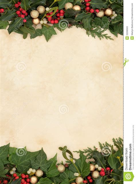decorative christmas border stock  image