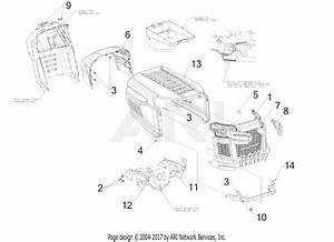 Troy Bilt 13an77bs011 Pony  2017  Parts Diagram For Hood
