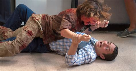 cooties elijah wood movie gore ray zombie zombies actor movies dvd film killing blu cootie ending roth cooper alternate clip