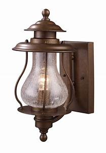 Elk lighting 62005 1 wikshire outdoor wall mount lantern for Lantern style exterior lights