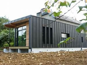 Bardage Façade Maison : bardage pose de gouttieres alu habillage planches de rive zinguerie toitures en zinc ~ Nature-et-papiers.com Idées de Décoration