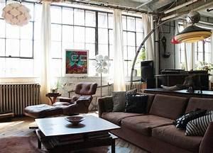 Lampadaire Salon Industriel : salon style industriel et id es emprunter pour le recr er ~ Teatrodelosmanantiales.com Idées de Décoration