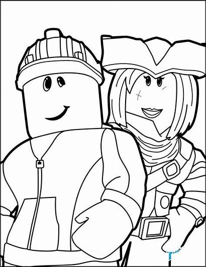 Roblox Coloring Pages Pdf Drawing Friends Getdrawings