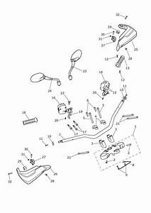 2015 Triumph Tiger Upper Yoke Assembly  Switches