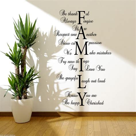 ebay wall decor quotes family wall sticker quote room decal mural