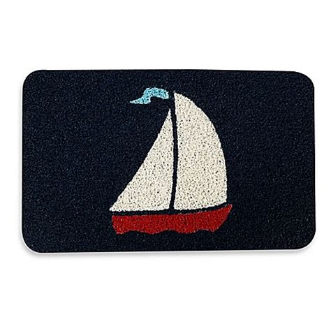 Kikkerland Doormat by Kikkerland 174 Design 17 7 Inch X 29 5 Inch Sailboat Door Mat