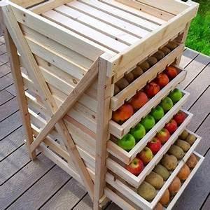Rangement Fruits Et Légumes : vu sur pinterest des diy faciles r aliser jardinage rangement l gumes tag res de ~ Melissatoandfro.com Idées de Décoration