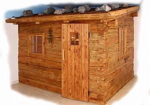 Sauna Für Garten : blockhaussauna aus altholz ~ Markanthonyermac.com Haus und Dekorationen