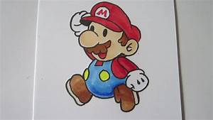 How to draw Paper Mario: Mario [real time] マリオ - YouTube