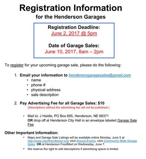 Garage Sale Finder Henderson by Henderson Garage Sales June 10 Heartlandbeat