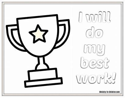 Coloring Pages Trophy Doing Children Award Questions