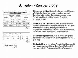 Vorschubgeschwindigkeit Berechnen : ppt vorlesung fertigungstechnik 2 trennen powerpoint presentation id 898301 ~ Themetempest.com Abrechnung