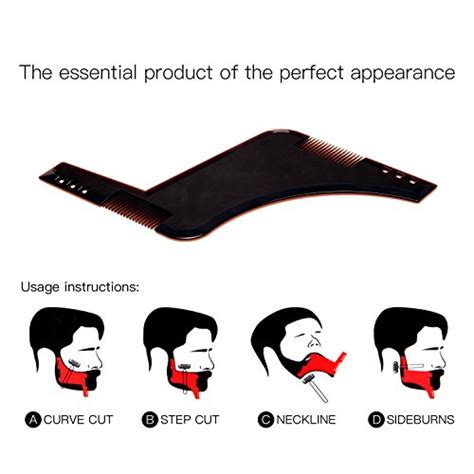 cheek beard line template beard style tool shaping comb ulg template shaper edging