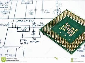 Wiring Diagram And Cpu Stock Image  Image Of Component