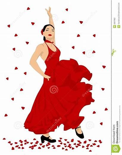 Flamenco Clipart Dancer Spanish Dancing Woman Vector