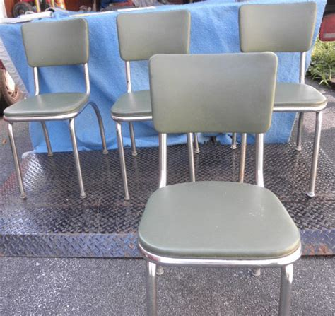 chairs kitchen chrome legs b5273 for sale antiques