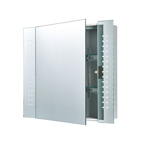 wall cabinet with mirror for bathroom 60894 revelo bathroom wall mirror cabinet shaver