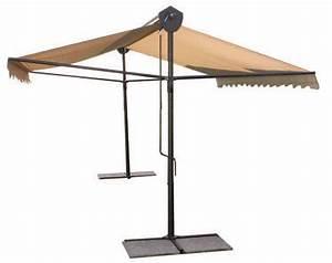 Jardiland Parasol Déporté : parasol professionnel 2 pans pour terasse de restaurant ~ Premium-room.com Idées de Décoration