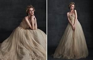 stunning wedding dresses in beige and blush onewed With beige wedding dress