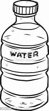 Bottle Clipart Drawing Butelka Wasserflasche Drink Drawn Wasser Cliparts Vektor Woda Cold Kaltes Comic Flasche Getraenk Einzelner Gegenstand Istockphoto sketch template